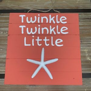 """Accents - NEW** """"Twinkle Twinkle"""" Hanging Wooden Sign"""